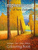 New Zealand adult coloring book