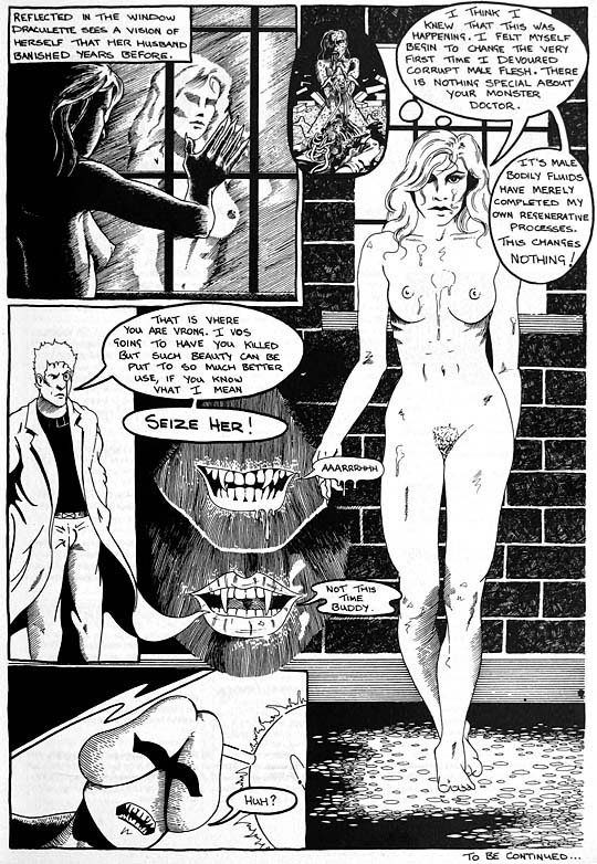 erotic adult horror comic drawing