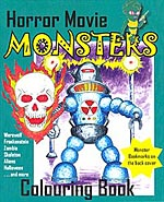 Horror movie monsters coloring book