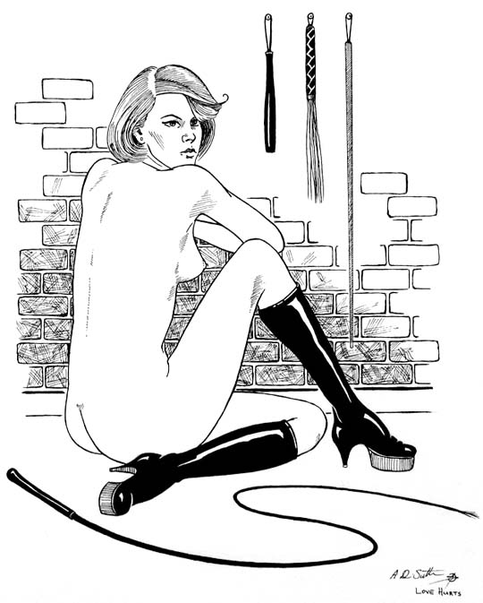 bondage slave drawing