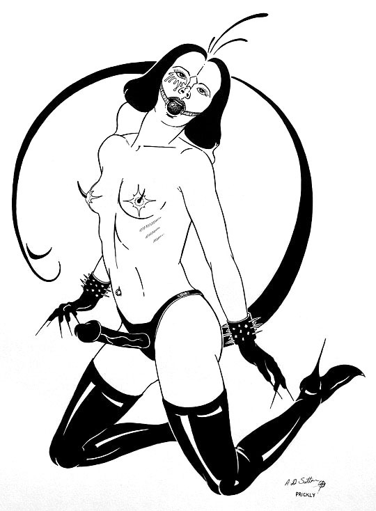 bondage fetish drawing