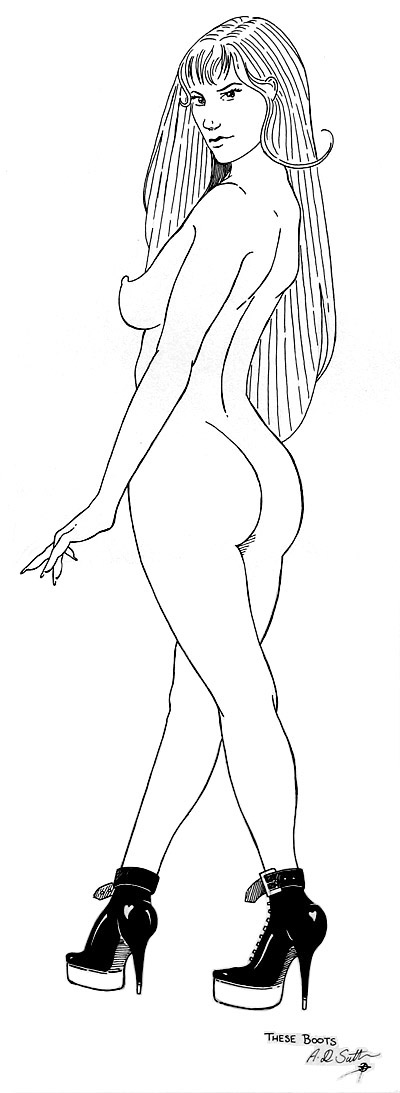 erotic female nude drawing